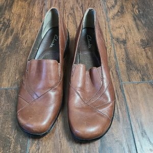 Clarks Heeled Loafers